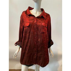 Red Shimmer Shirt Size 3X